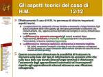 gli aspetti teorici del caso di h m 12 12