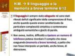 h m il linguaggio e la memoria a breve termine 6 12