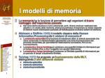 i modelli di memoria