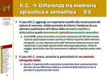 k c differenza tra memoria episodica e semantica 8 8