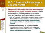 k c lesioni agli ippocampi e alle aree frontali 1 8
