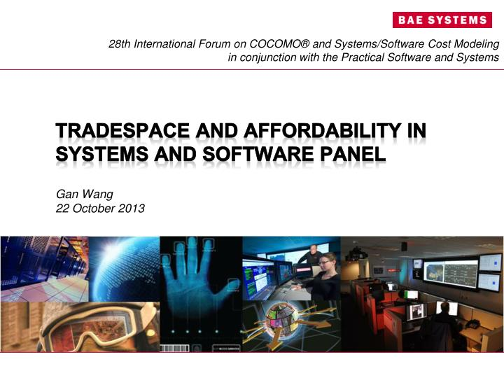 tradespace and affordability in systems and software panel n.
