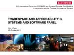 tradespace and affordability in systems and software panel