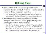 defining plots