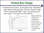 plotting bus voltage