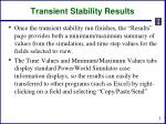transient stability results