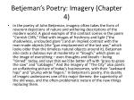 betjeman s poetry imagery chapter 4