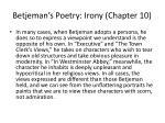 betjeman s poetry irony chapter 10