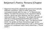 betjeman s poetry persona chapter 10