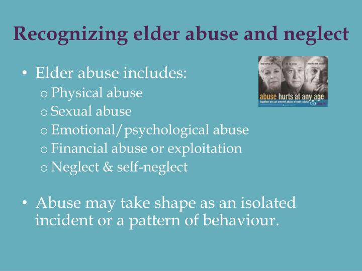 Recognizing elder abuse and