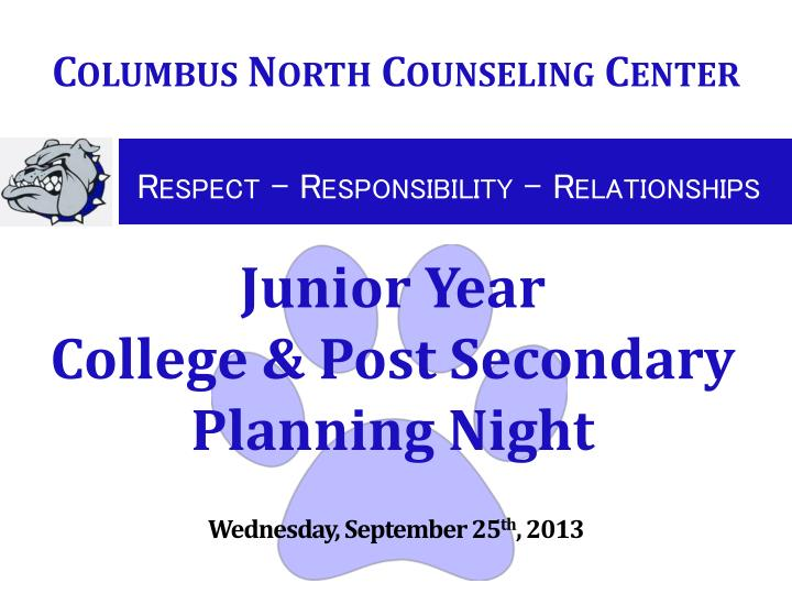 junior year college post secondary planning night n.