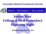 junior year college post secondary planning night