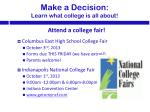 make a decision learn what c ollege is all about3