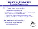 prepare for graduation graduation requirements3
