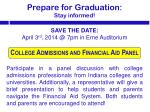 prepare for graduation stay informed1
