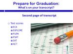 prepare for graduation what s on your t ranscript2