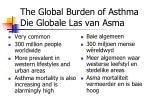 the global burden of asthma die globale las van asma