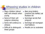wheezing studies in children