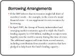borrowing arrangements