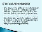 el rol del administrador