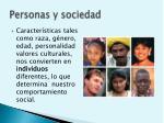 personas y sociedad