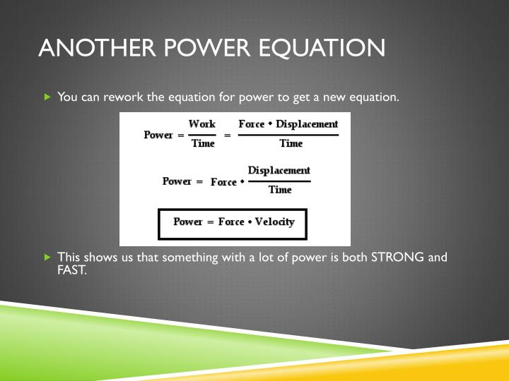 Another power equation