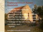 traditional french peasant household