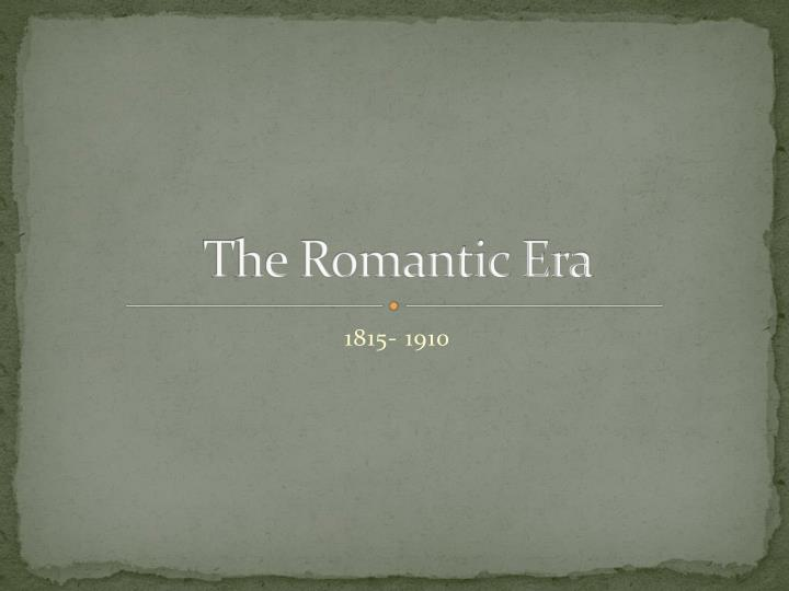 the romantic era n.