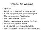 financial aid warning