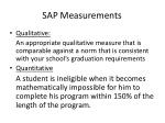 sap measurements