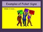 examples of picket signs