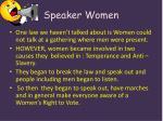 speaker women