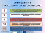 vorschlag der vb sn cz sowie cz pl f r op 2014 2020
