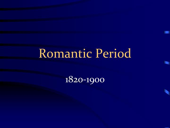 romantic period n.