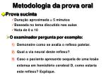 metodologia da prova oral