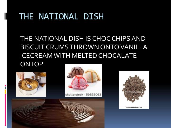 THE NATIONAL DISH
