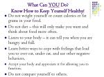 what can you do know how to keep yourself healthy