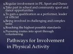 pathways for involvement in physical activity