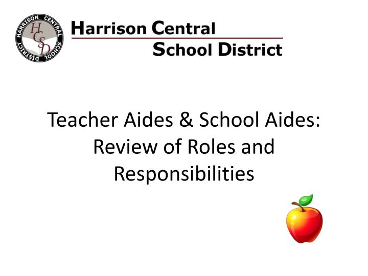 teacher aides school aides review of roles and responsibilities n.