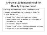 ishikawa s additional tool for quality improvement