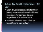 auto no fault insurance mi law