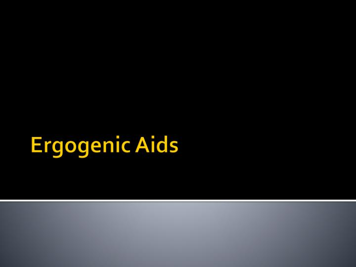 ergogenic aids n.