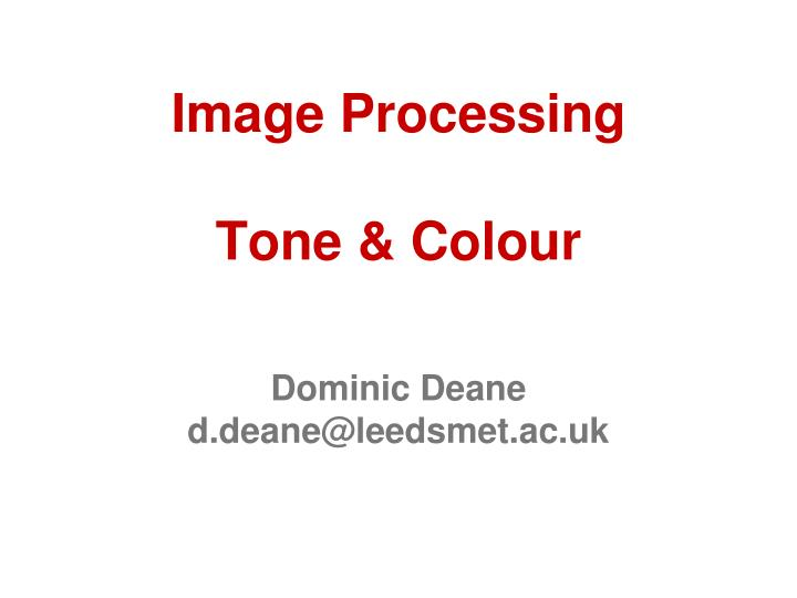 image processing tone colour n.