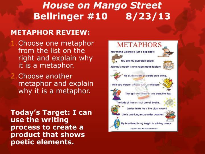 House on mango street bellringer 10 8 23 13