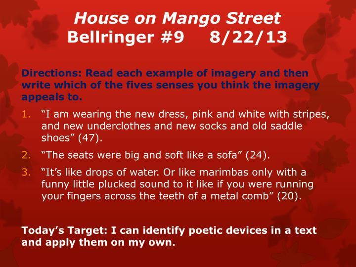 House on mango street bellringer 9 8 22 13