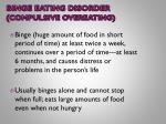 binge eating disorder compulsive overeating