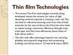 thin film t echnologies