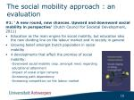 the social mobility approach an evaluation