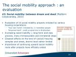 the social mobility approach an evaluation2
