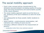 the social mobility approach